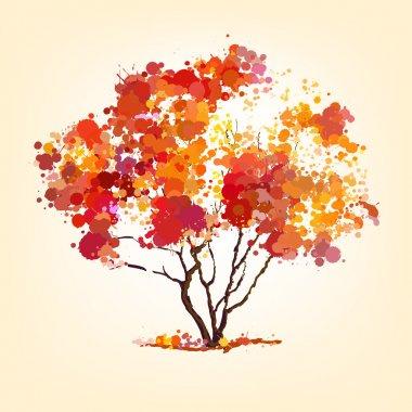 Autumn vector tree of blots background stock vector