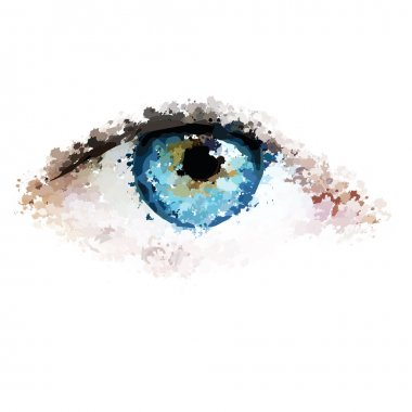 Healthy eyes clean looking vector illustration