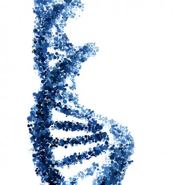 DNA helix vector isolated on white background