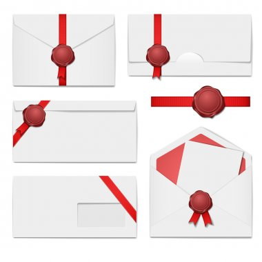 Envelopes with a wax seal set