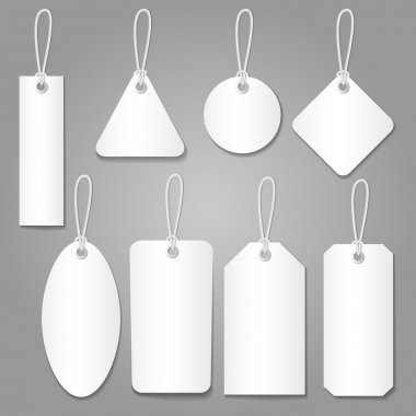 Blank labels template price tags set vector