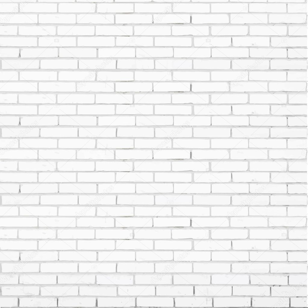 White Brick Wall Vector Texture Stock