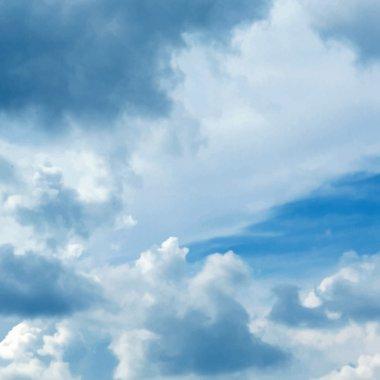 Blue cloudy sky vector background stock vector
