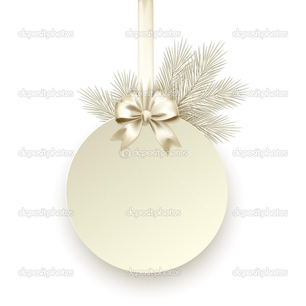 Weihnachts-Geschenk-Karte mit satin Schleife Vektor Vorlage ...