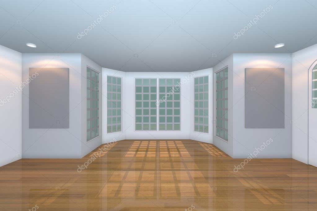 Empty White Living Room U2014 Stock Photo