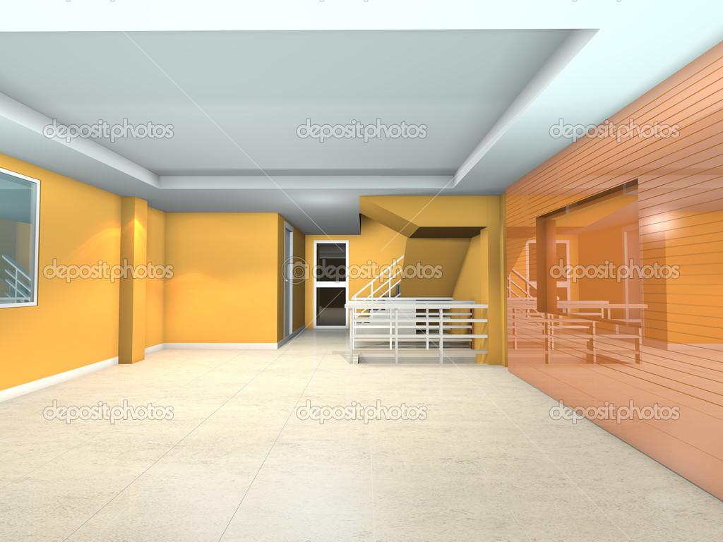 Arredamento soggiorno arancione — Foto Stock © sumetho #43189257