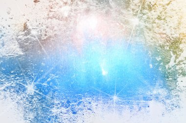 Abstract textured Christmas background: blue and white patterns / lights