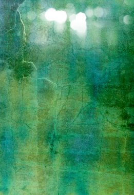 Abstract textured background: blue, green, and white patterns on dark backdrop