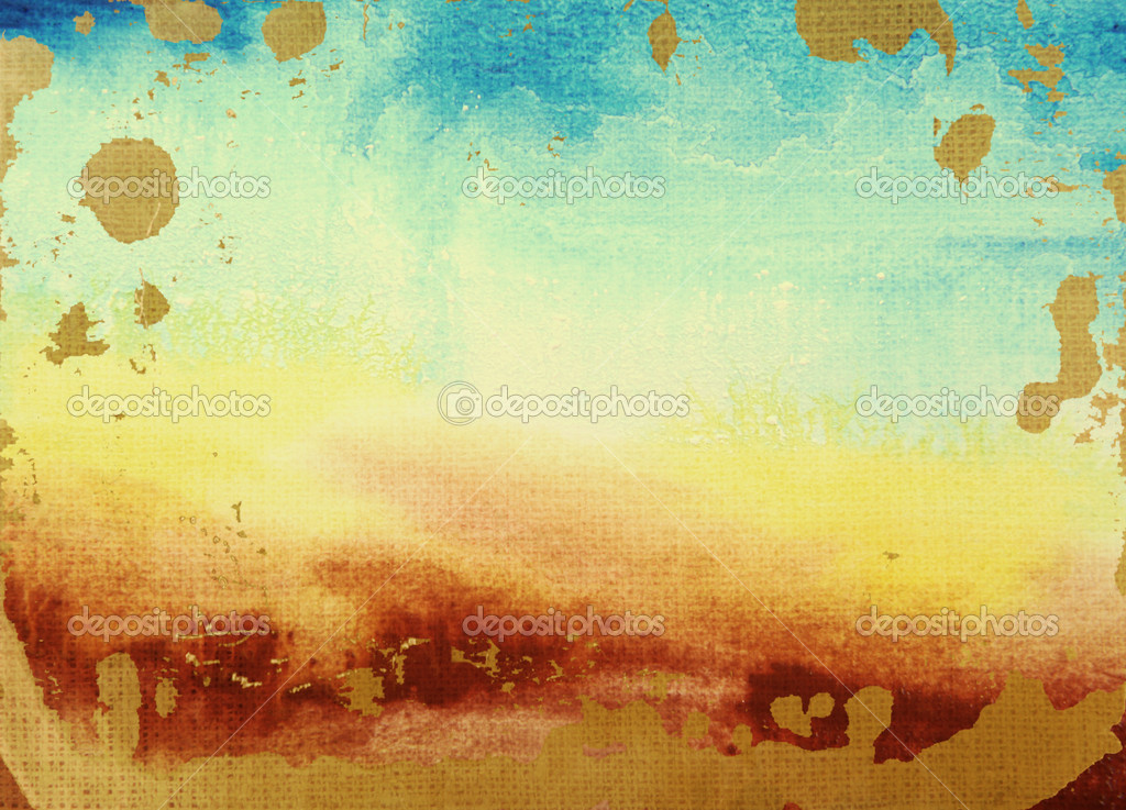abstract watercolor textured background summerthemed