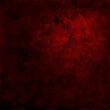 Abstract red background or paper with bright center spotlight and dark border frame with grunge background texture