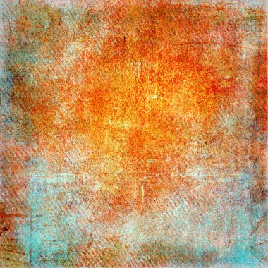 Highly detailed orange and blue grunge background or paper with vintage texture
