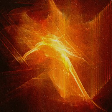 Abstract background with fire on grunge texture