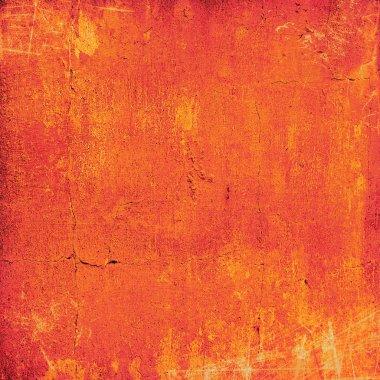 Abstract orange background with vintage grunge background textur