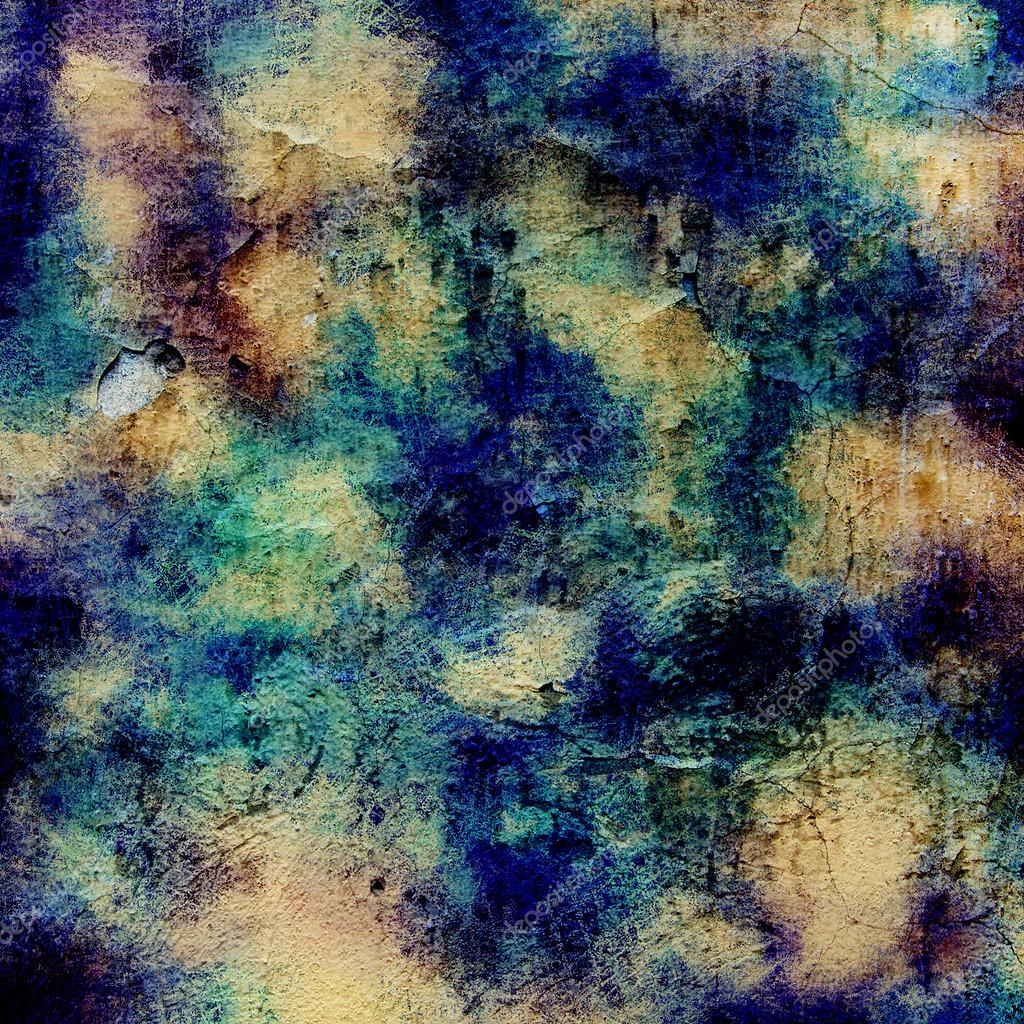 Computer designed vintage background textures and painting added