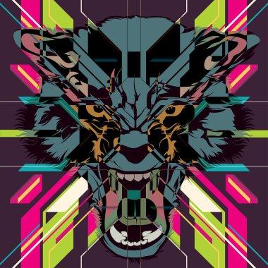 """Картина, постер, плакат, фотообои """"волк"""", артикул 33902191"""