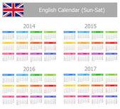 2014-2017 type-1 anglický kalendář slunce sat
