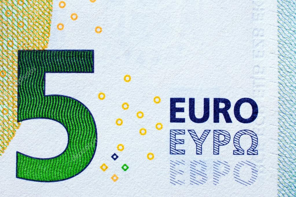 a new 5 euro bank note with added bulgarian ebpo writing