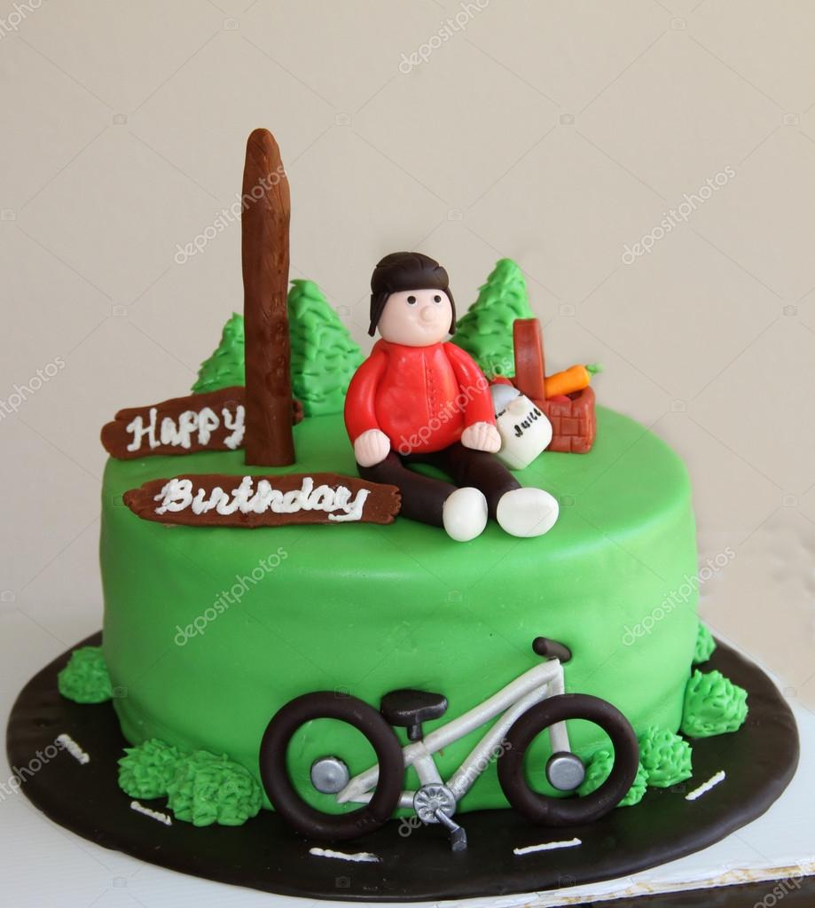 Terrific Images Bicycle Birthday Cake Bicyclist Green Birthday Cake Funny Birthday Cards Online Overcheapnameinfo
