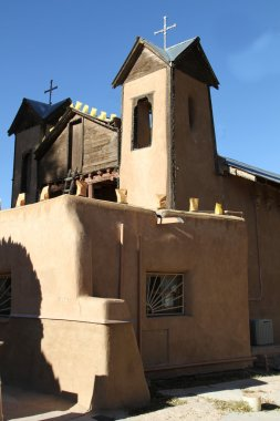 Adobe and Wooden Church