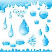 Kolekce kapičky vody různých tvarů