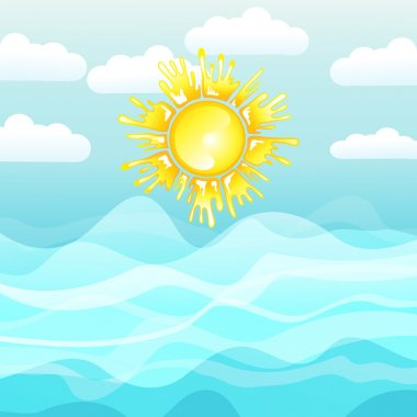 Sea and sun, summer background
