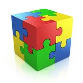 barevné krychlových 3d puzzle