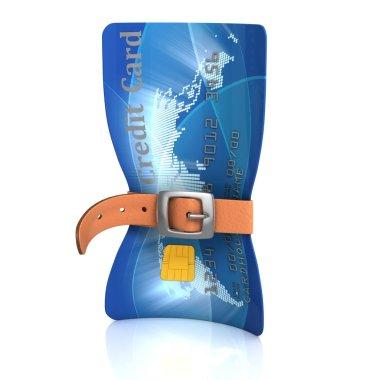 Credit card with tighten belt