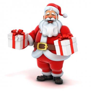 Santa claus holding presents