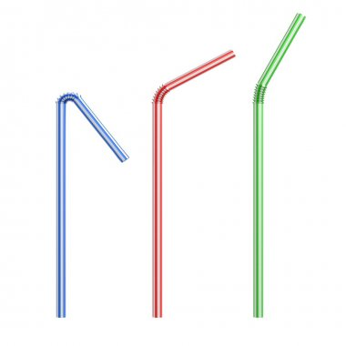 Drinking straws isolated