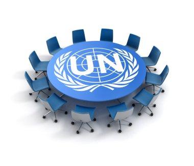 UN meeting 3d concept