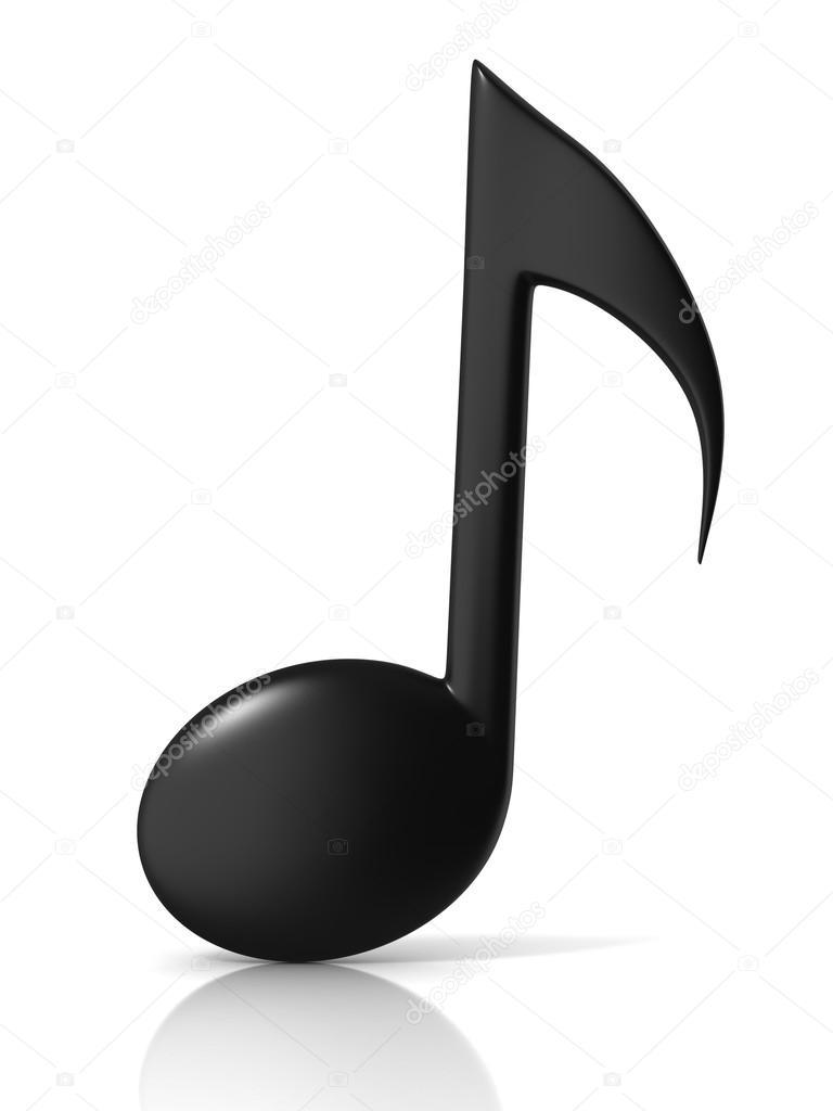 music note 3d icon on white background u2014 stock photo koya979
