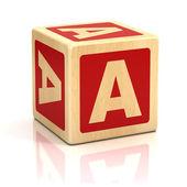 Fotografia lettera di un font di cubi alfabeto