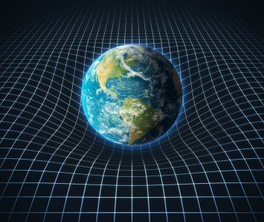 Earth s gravity bends space around it