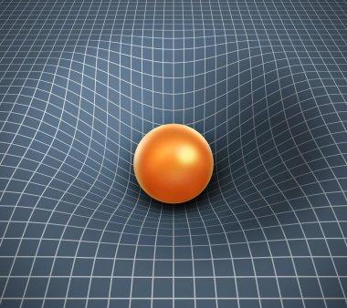 Gravity 3d illustration