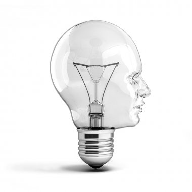 Human head light bulb
