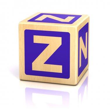 Letter z alphabet cubes font
