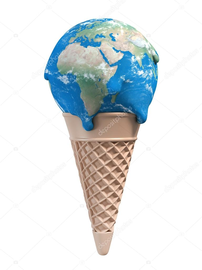 Ice cream earth melts