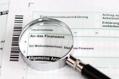 German tax form - Einkommensteuererklaerung