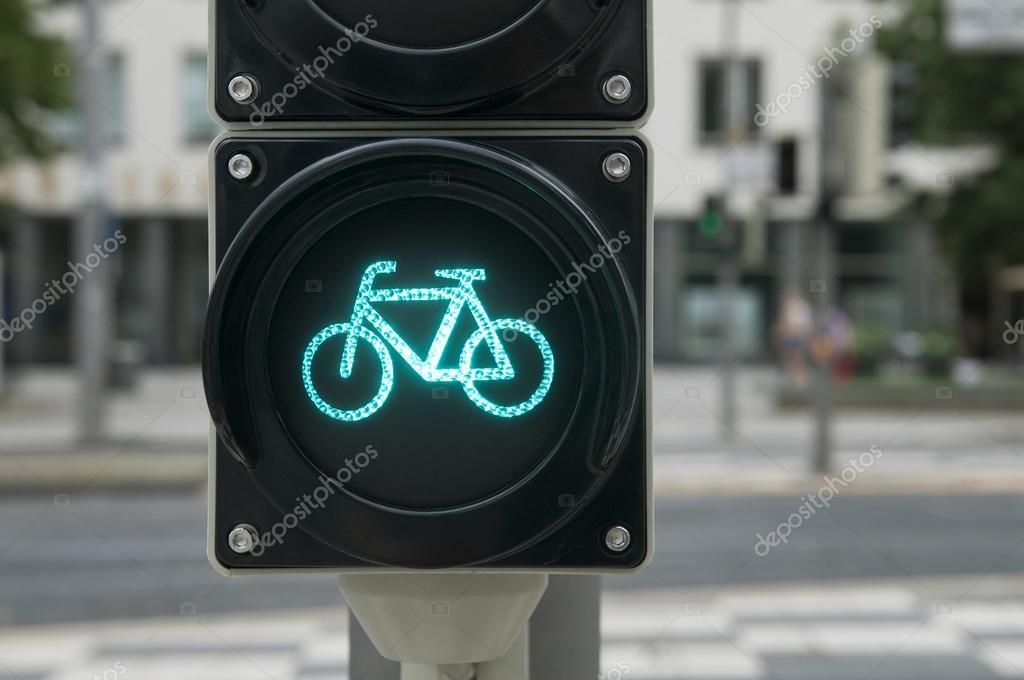 Licht Voor Fiets : Groen licht voor fiets u stockfoto seewhatmitchsee