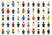 Skupina padesáti různých lego mini čísla