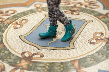 Floor with Mosaic and the design of the coat of arms