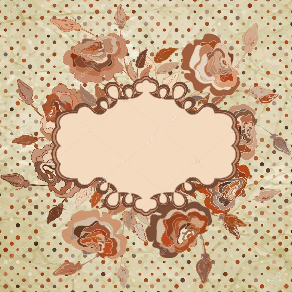 Floral vintage background - Floral Vintage Background And Also Includes Eps 8 Vector Vector By Beresdmit2501