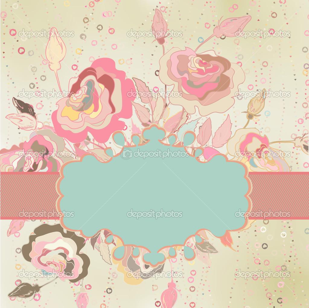 vintage flower template background eps 8 stock vector