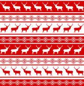 Fotografie Vánoční bezešvé vzor s jeleny. EPS 8