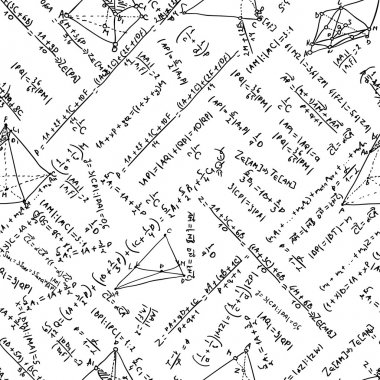 Maths seamless pattern. And also includes EPS 8