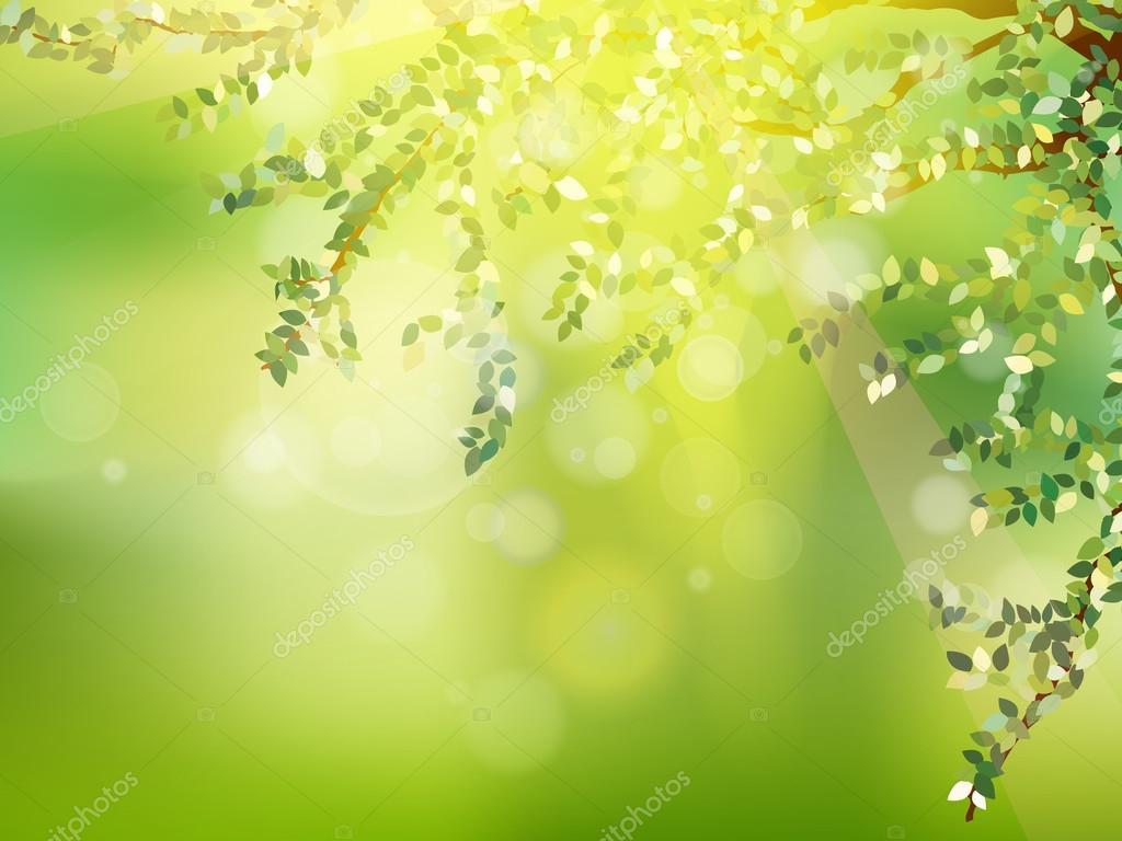 Fresh green leaves on natural. EPS 10