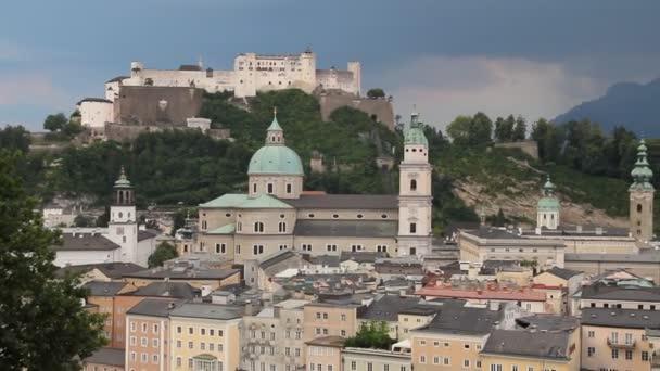 Salzburg in the sunset (Austria, Central Europe)