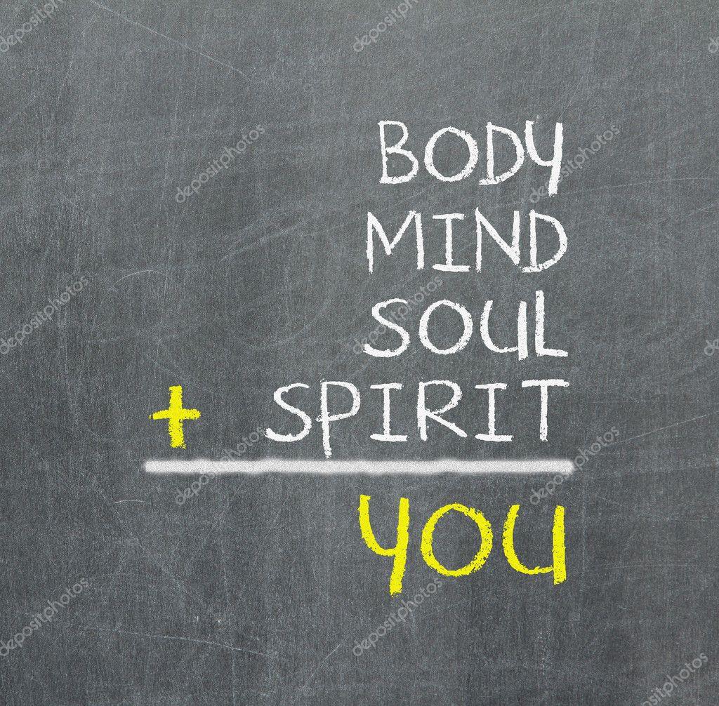 You, body, mind, soul, spirit - a simple mind map