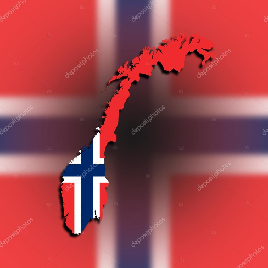 Norway Map With The Flag Inside Stock Photo Michaklootwijk - Norway map and flag