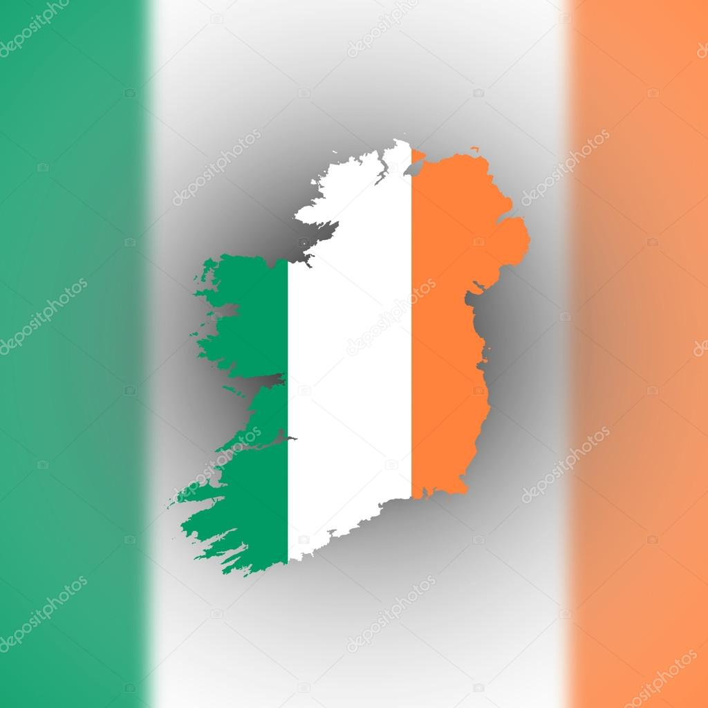 map of ireland with flag inside u2014 stock photo michaklootwijk